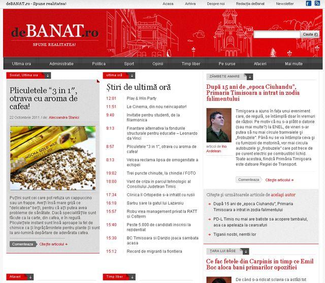 DeBanat.ro, ştiri din Banat – redesign